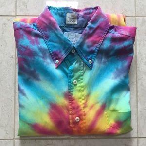 $205 GITMAN BROS tie-dye Button shirt 16 1/2/35